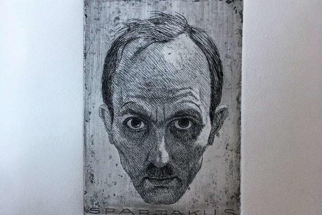 Das Selbstporträt des Lahrer Politikers und Künstlers Alfred Frank