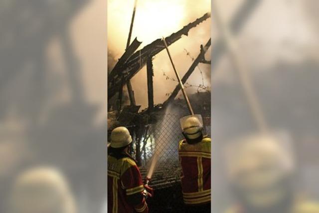 In Obereggenen stand ein Haus in hellen Flammen