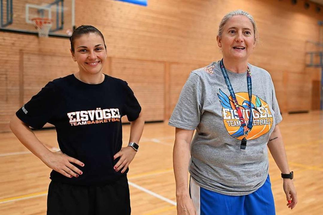 Isabel Fernandez (rechts) und Hanna Ba...piels in Osnabrück nicht in der Halle.  | Foto: Patrick Seeger