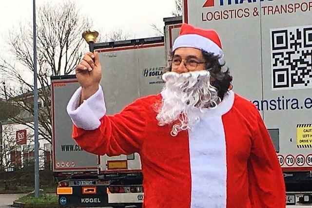 Das ist der spanische Trucker-Weihnachtsmann von der A5