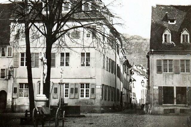 So sah Freiburgs Unterlindenplatz vor mehr als 150 Jahren aus
