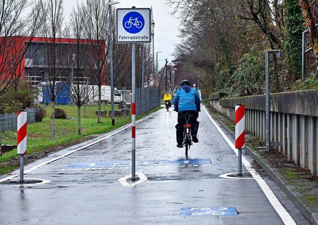Freie Fahrt für Radlerinnen und Radler...n Guildfordallee und Basler Landstraße    Foto: Michael Bamberger