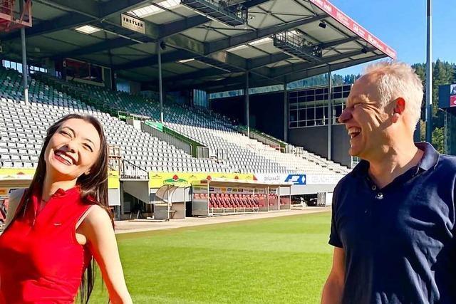 Pianistin Vetter trifft Fußballtrainer Streich: