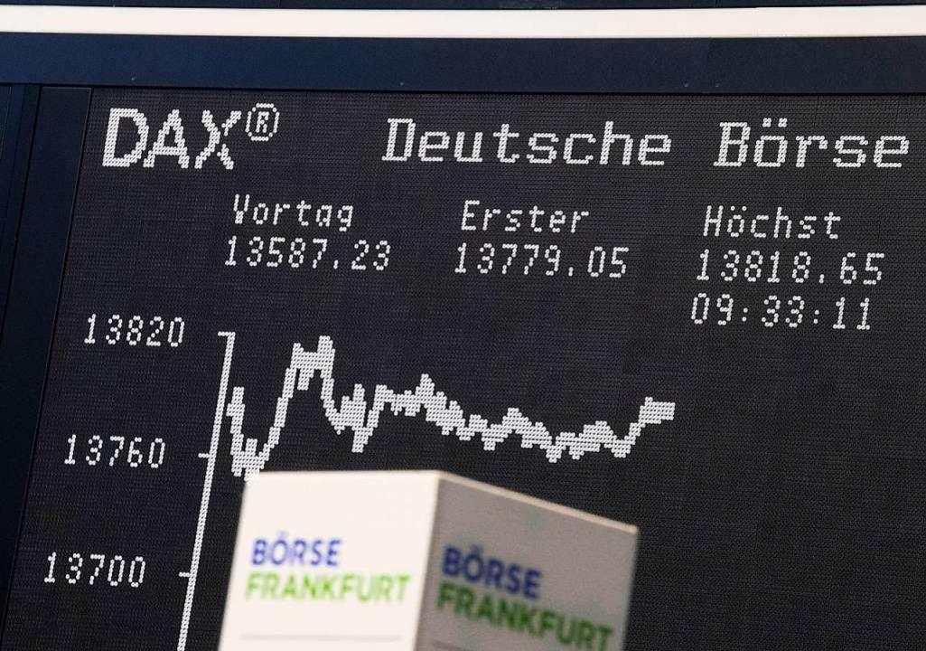 Der Dax verzeichnete einen neun Rekord.   | Foto: Boris Roessler (dpa)