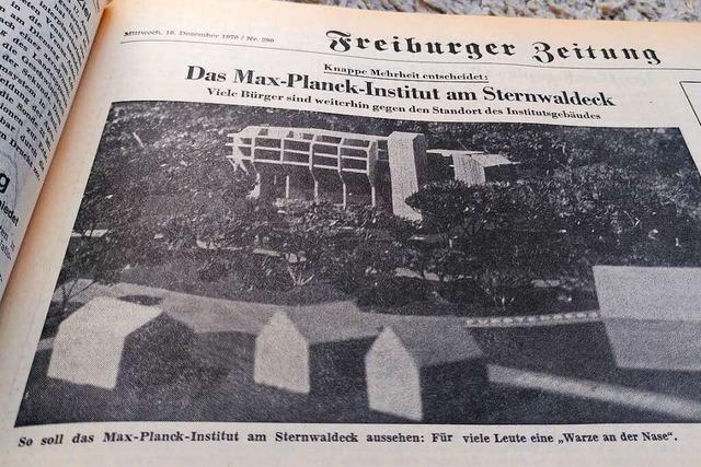 Im Winter 1970 gab's heftigen Gegenwind gegen ein Freiburger Bauprojekt