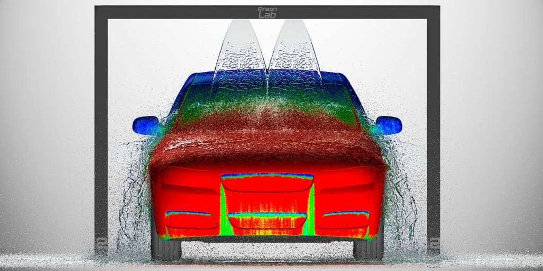 Jeder Tropfen wird berechnet: Mit der ...schanlage über ein Fahrzeug verteilt.     Foto: Privat