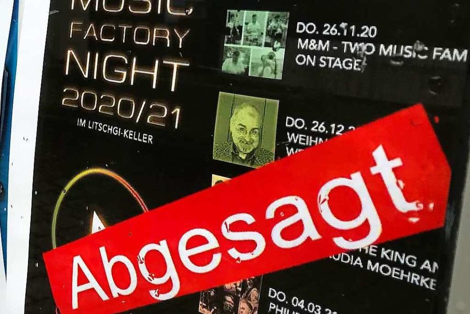 <BZ-FotoAnlauf>Abgsagt </BZ-FotoAnlauf>wurden fast alle  Kultur-Events – vom Open Air (wegen zu vieler Besucher) bis zum Jazz-Konzert (wegen zu kleiner Location).     Künstler darben. (Foto: Hans-Peter Müller)