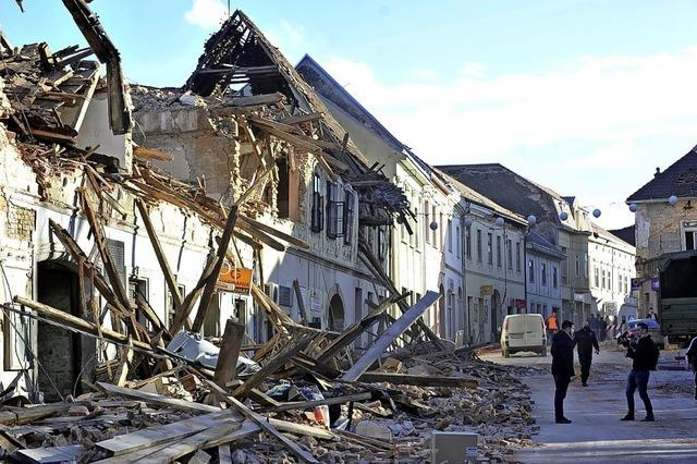Schweres Erdbeben in Kroatien