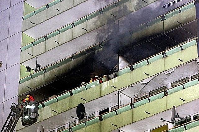 Feuerwerk vom Balkon ist keine gute Idee