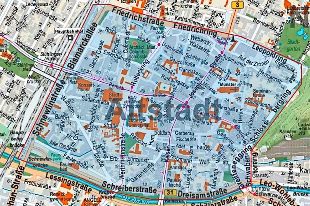 In der Freiburger Innenstadt gilt die ...pflicht mindestens bis zum 22. Januar.  | Foto: Repro: BZ