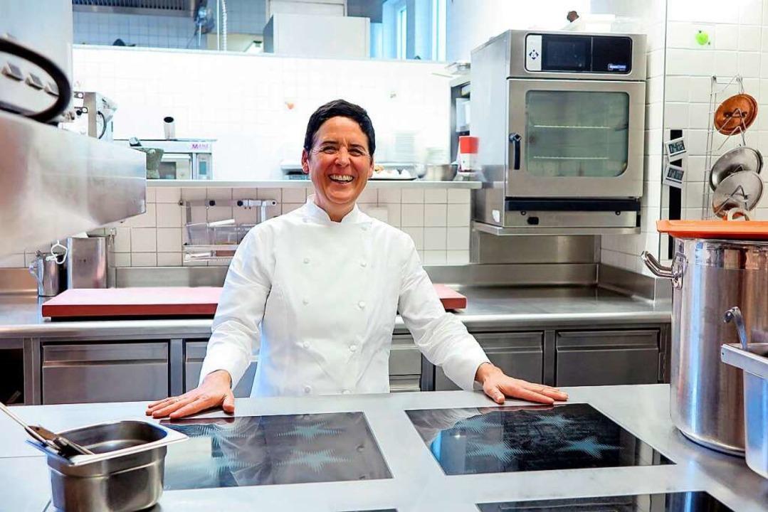 Zufrieden in ihrer Restaurantküche: Douce Steiner  | Foto: Nicole Jankowski