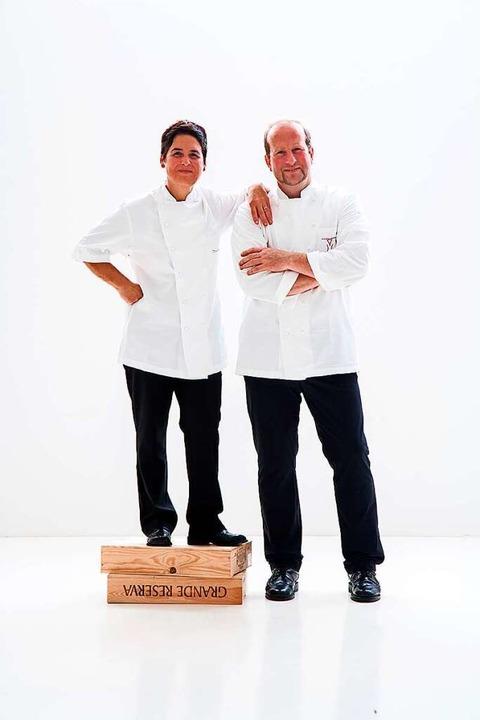 Douce Steiner mit ihrem Mann, dem Koch Udo Weiler  | Foto: Michael Wissing