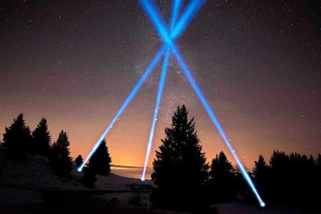 Mit einer Lichtinstallation soll an Silvester der Himmel über Ettenheim leuchten