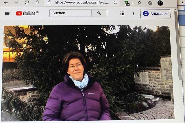 Silvesterbericht der Ortsvorsteherin auf Youtube zu sehen