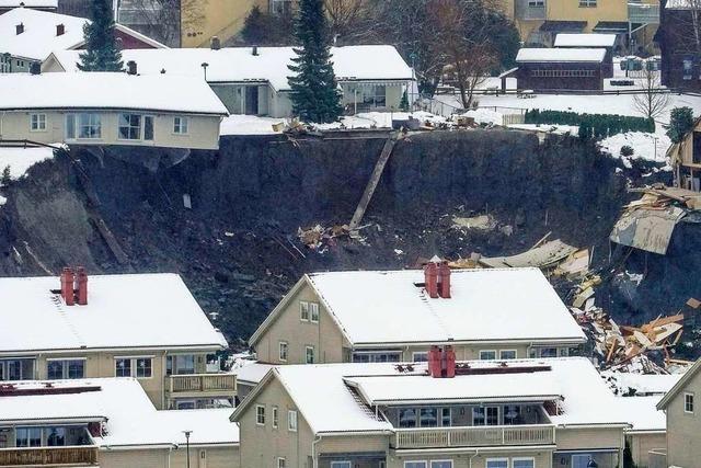 Suche nach Überlebenden: Zehn Vermisste nach Erdrutsch in Norwegen