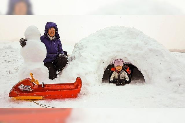 Verschneiter Start ins neue Jahr