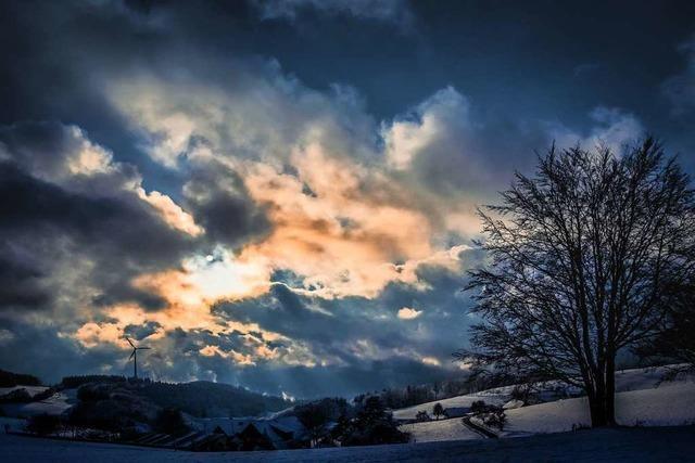 Dramatisches Wolkengebilde bei Freiamt