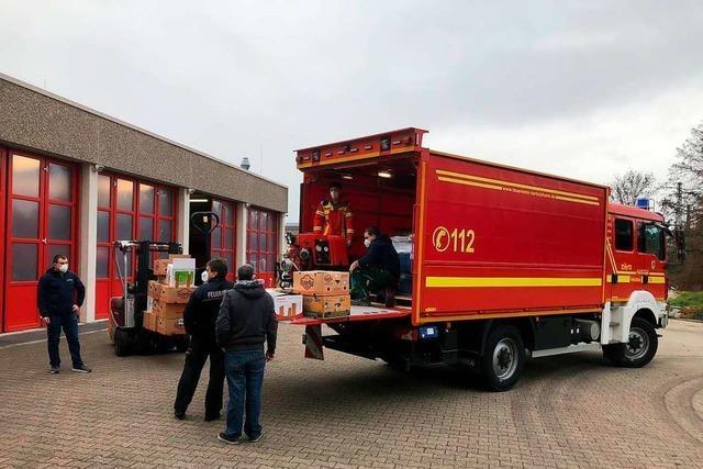 Emmendinger Wehr fährt 108 Paletten mit Hilfsmitteln nach Kroatien