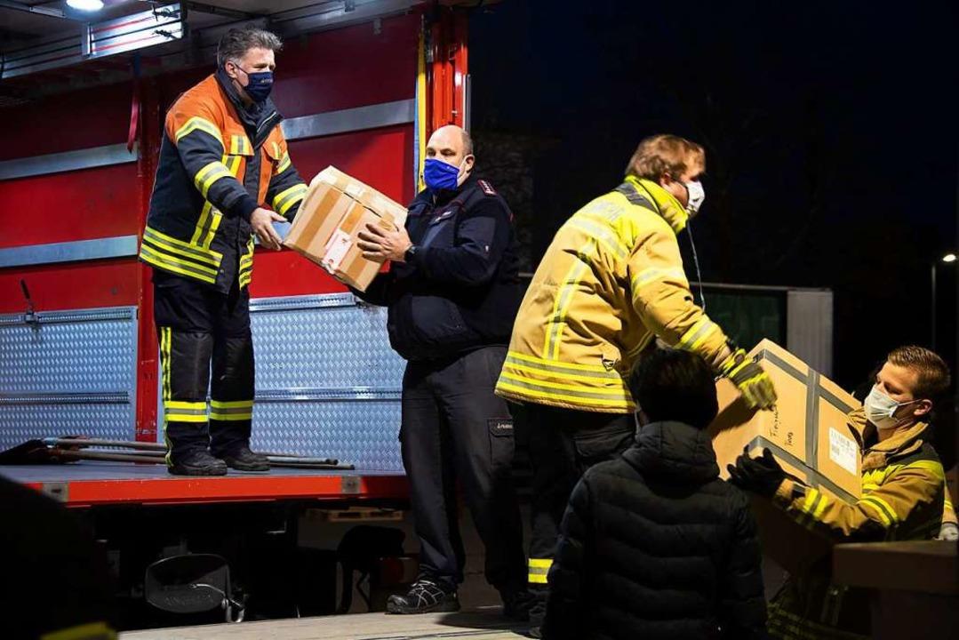 In Bad Krozingen wurden die Hilfsgüter entgegengenommen und verpackt.    Foto: Volker Münch