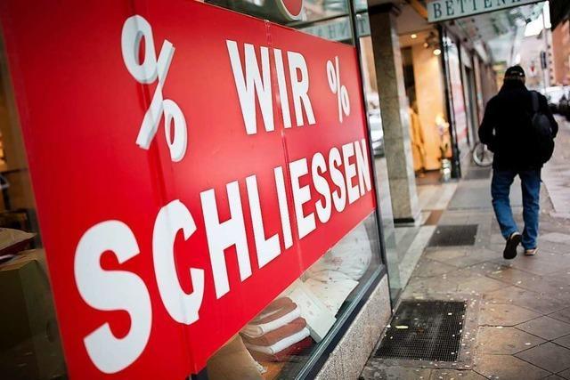 Einzelhandel warnt vor einer Pleitewelle