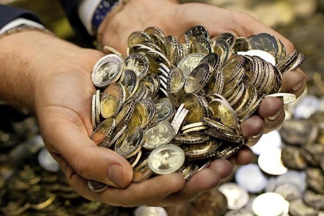 Fast zwei Milliarden Euro in Münzen