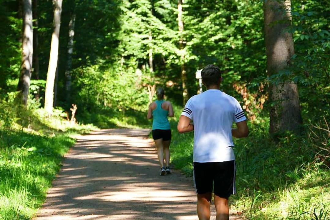 Joggen von Übung zu Übung auf dem Lörr...n als Trimm-dich-Pfad gegründet wurde.  | Foto: Martina David-Wenk