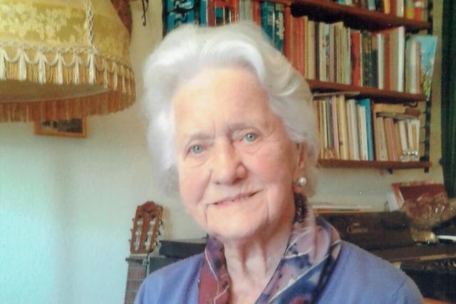 Rosa Strittmatter hat sich für das Stadtleben engagiert