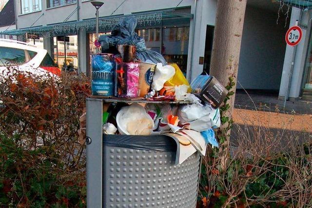 Weiler Betriebshof muss nach Silvester nur wenig Müll sammeln