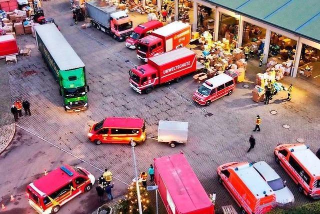 Bad Krozinger Feuerwehr leistet mit Kroatien-Hilfe logistischen Kraftakt