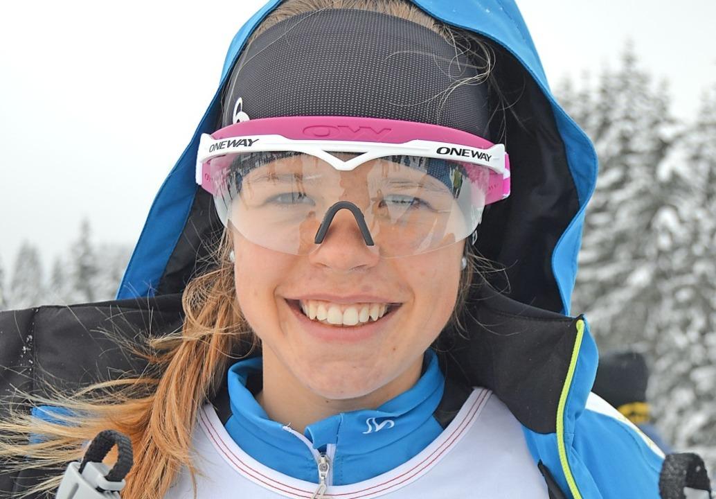 Mit einem Lächeln rasant unterwegs: La...rin Amelie Wehrle vom SC Hinterzarten   | Foto: Helmut Junkel
