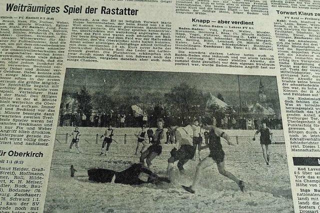 Anfang 1971 wurde in der Region Freiburg im hohen Schnee gekickt