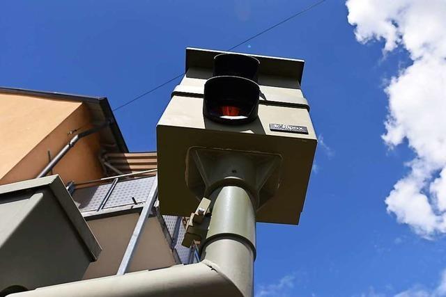 Mehr als 3100 Autofahrer waren im November in Lörrach zu schnell unterwegs