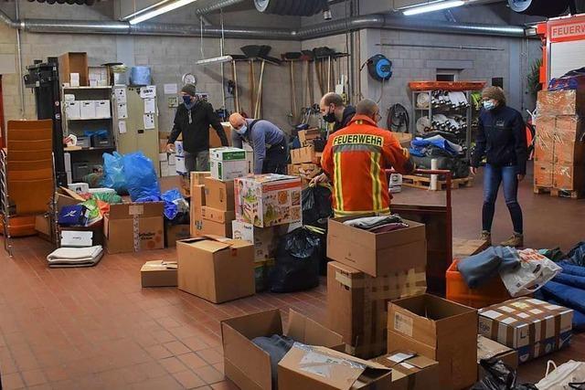 Friesenheimer Feuerwehr sammelt für Erdbebenopfer in Kroatien