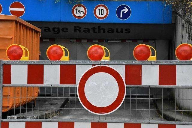 Sanierung der Rathaustiefgarage in Lörrach soll im Februar fertig sein