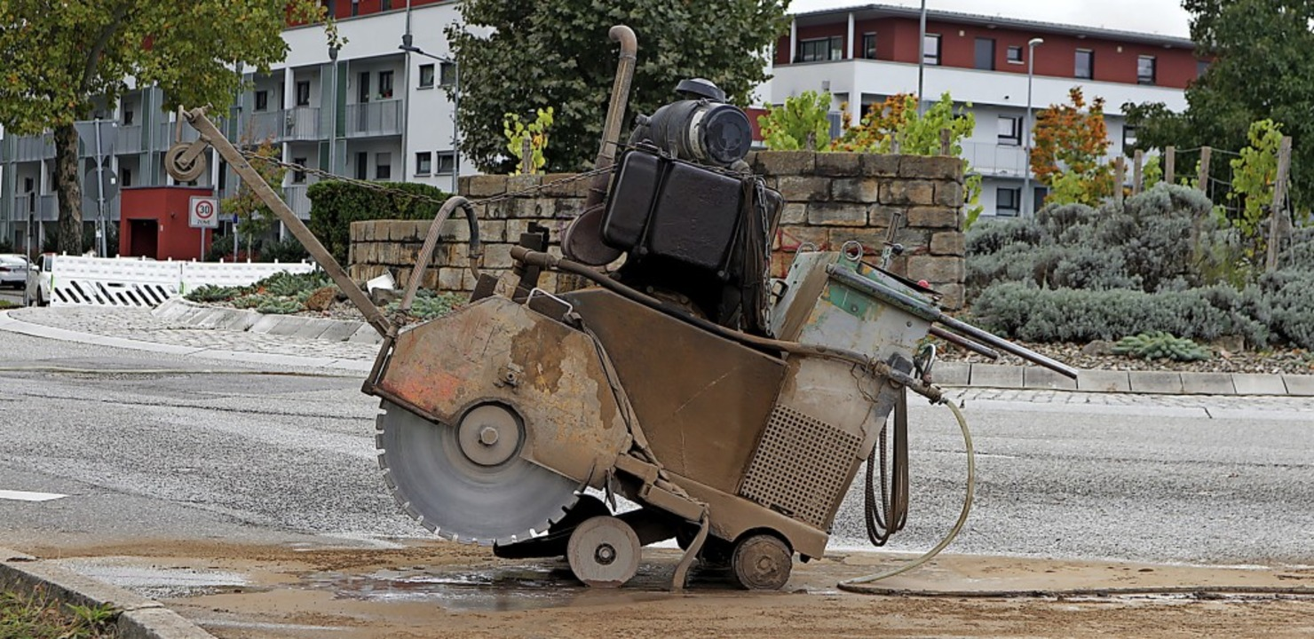 Mancherlei Arbeitsgerät sowie Baustell...aren 2020 in Müllheim allgegenwärtig.     Foto: Alexander Huber