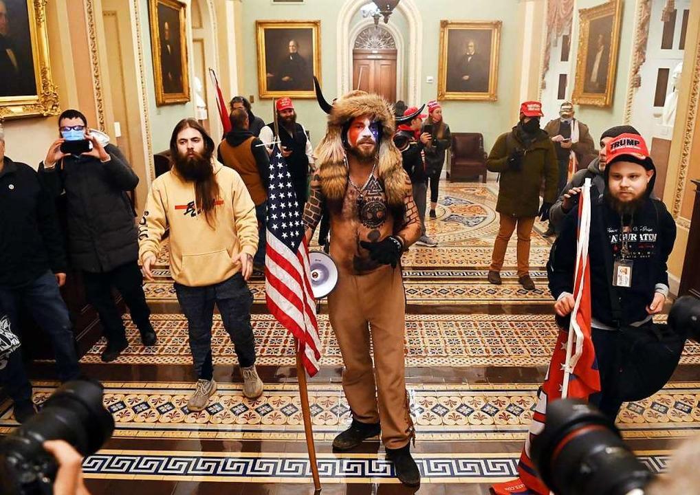 Pro-Trump-Demonstranten haben Zugang zum Capitol geschaffen.    Foto: SAUL LOEB (AFP)
