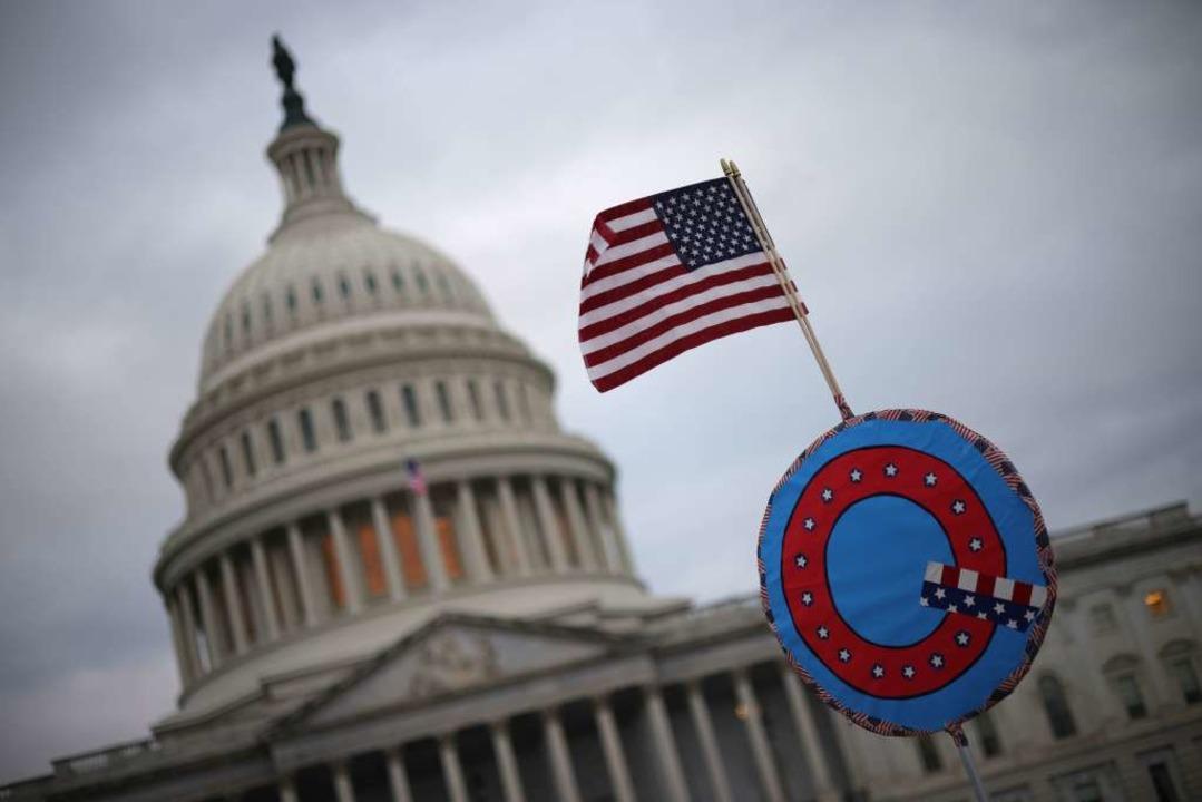 Pro-Trump-Demonstranten haben Zugang zum Capitol geschaffen.    Foto: WIN MCNAMEE (AFP)