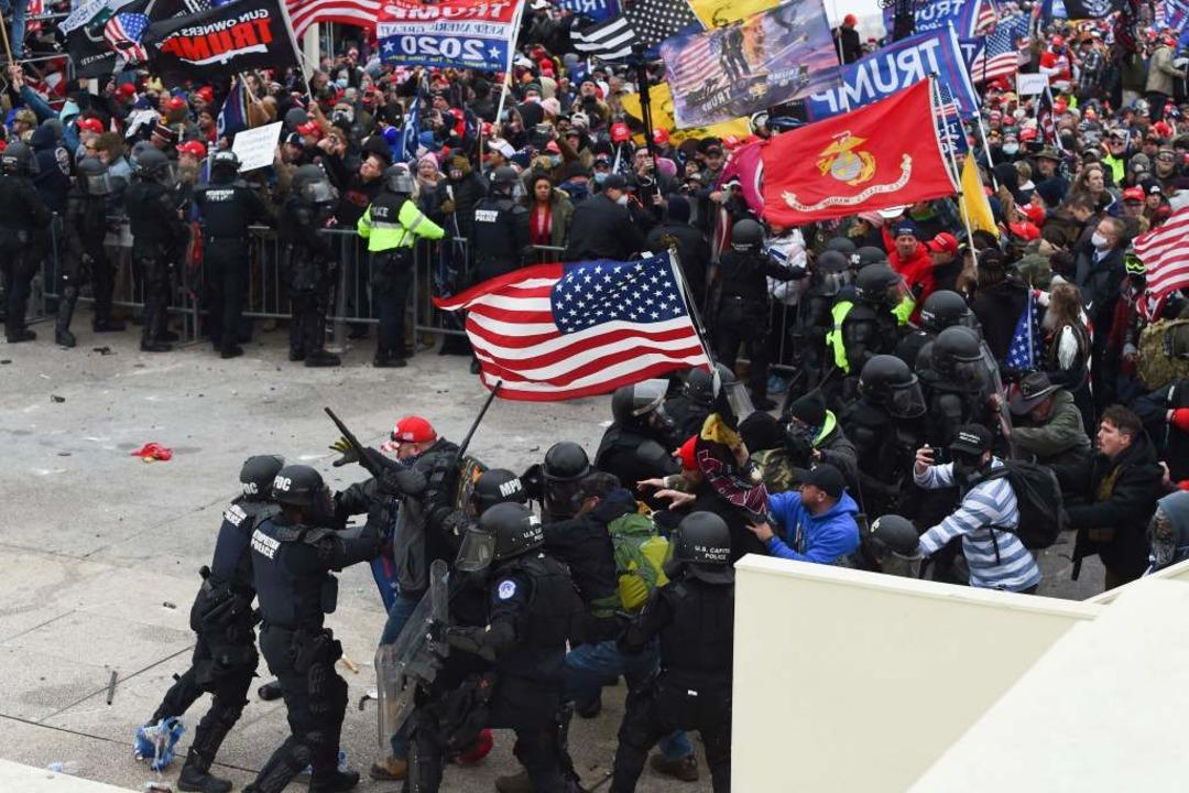 Randale in Washington    Foto: ROBERTO SCHMIDT (AFP)