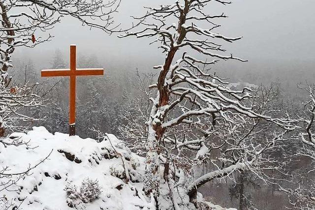 Schnee auf dem Röthekopf bei Bad Säckingen