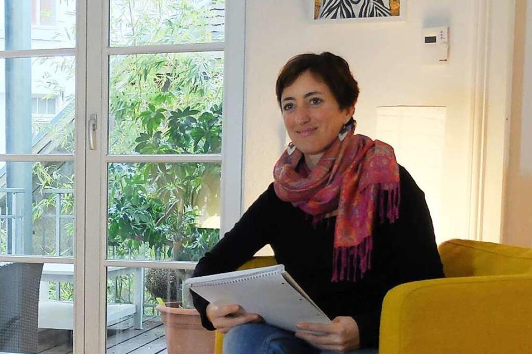 Isabella Dichtel in der Beratungsstelle.  | Foto: Isabella Dichtel