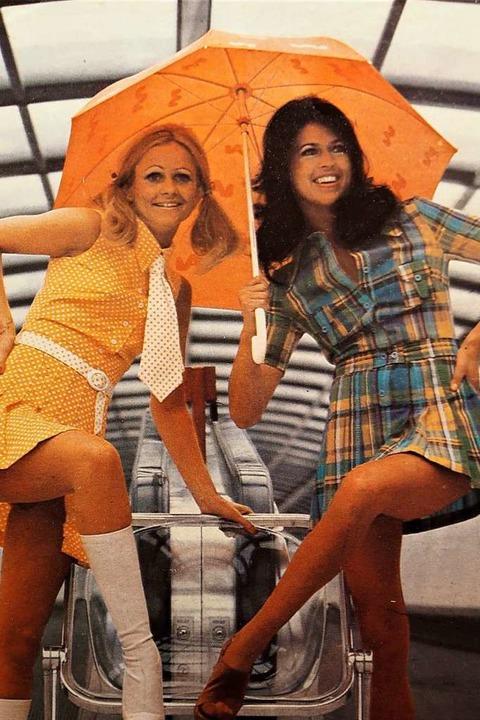 Kurze Röcke weit über dem Knie bestimmten in den 70er-Jahren die Frauenmode.   | Foto: Privat