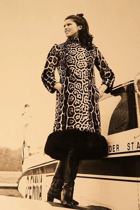 Was heute ein No-Go  wäre: Pelzmode, w...n Voss auf Modeschauen getragen wurde.  | Foto: Privat