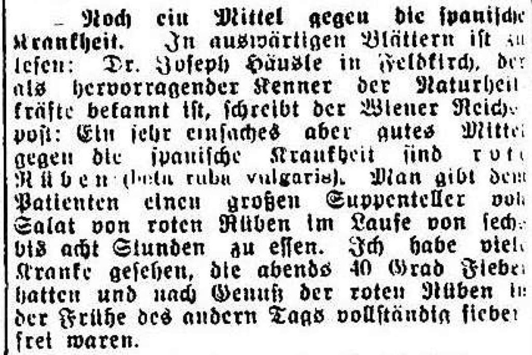 """Dubiose Gesundheitstipps: """"Man g...echs bis acht Stunden zu essen.""""    Foto: Freiburger Zeitung (Digitales Archiv der Universitätsbibliothek Freiburg i. Br)"""
