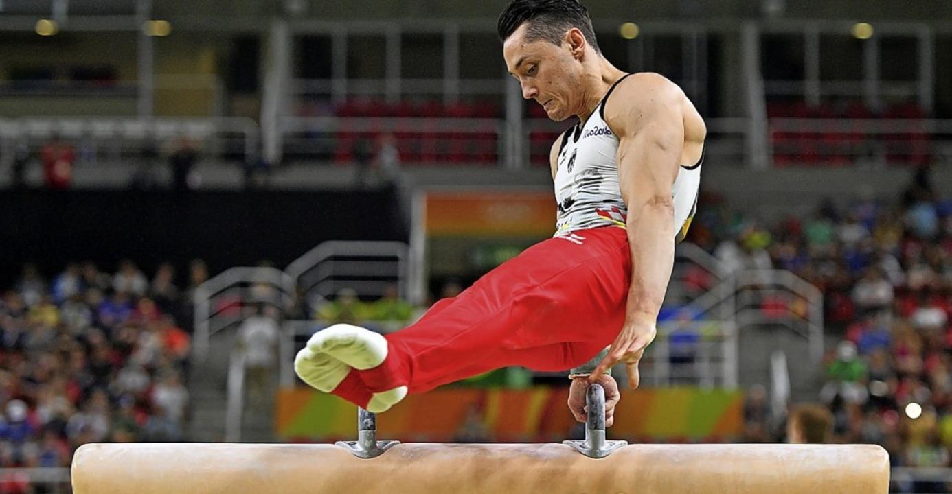 Andreas Toba bei Olympia 2016 in Rio am Pauschenpferd  | Foto: Lukas Schulze