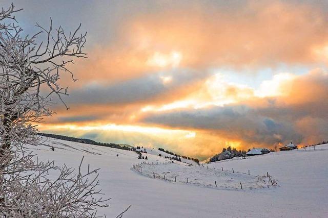 Die Sonne bricht durch zum Schauinsland