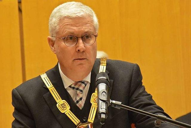 Der Weiler Oberbürgermeister hält seine Neujahrsansprache im Internet