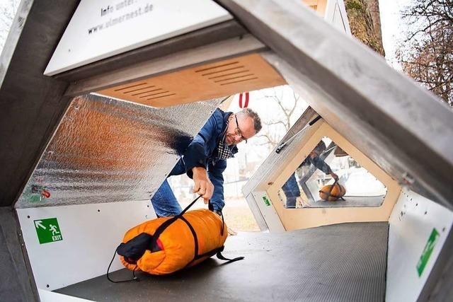 Ulm stellt Schlaf-Kapseln für Obdachlose wieder auf