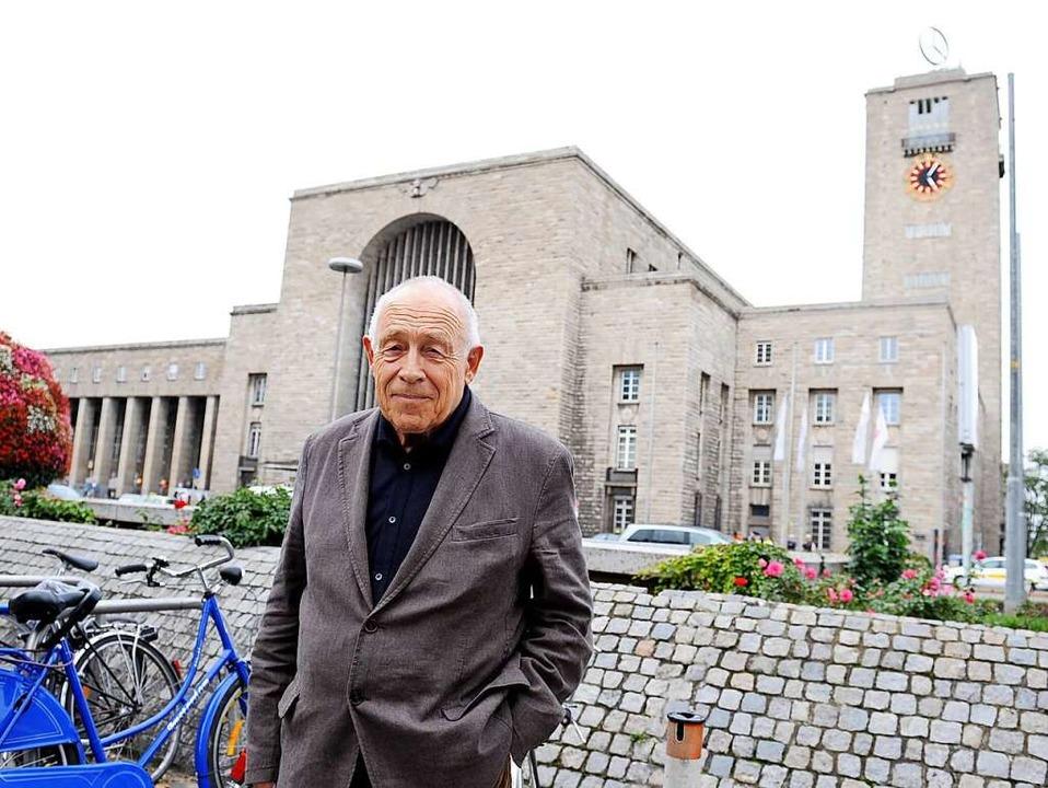 Heiner Geißler war ein gefragter Vermi...den Neubau des Stuttgarter Bahnhofes.   | Foto: Bernd Weissbrod
