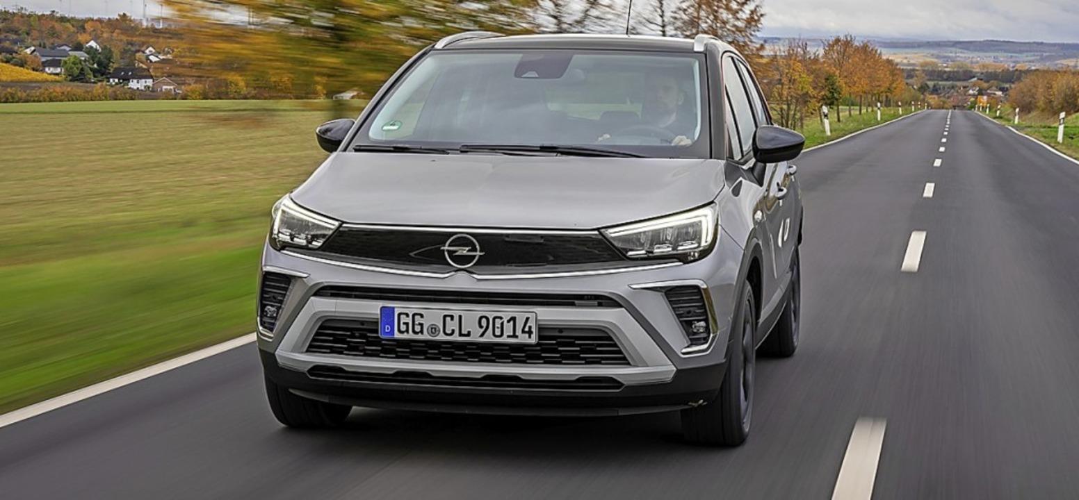 Das neue Gesicht von Opel trägt auch der kleine Crossland.  | Foto: Werk
