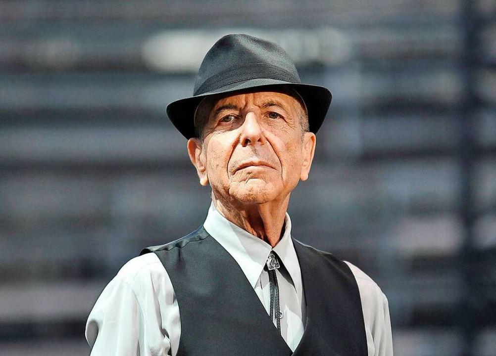 Leonard Cohen 2014 bei einem Konzert in Frankreich     Foto: Yoan Valat